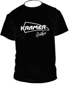 Kramer guitars logo t shirt Black&White t shirts SIZES S 2XL