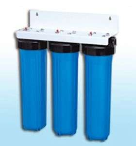 TRIPLE BIG BLUE 20 WATER FILTER SYSTEM 1 WITH FILTERS