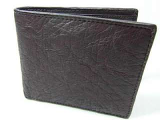 NEW BROWN OSTRICH LEATHER SKIN MEN BIF0LD WALLET OSA007