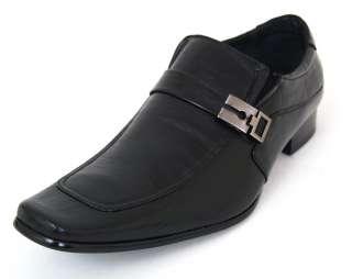 Buckle Strap Loafers Slip On Shoe Horn Black, Dark Brown Light Brown