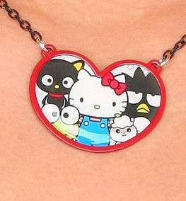 HELLO KITTY~ 50TH ANNIVERSARY FRIENDS HEART NECKLACE