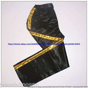 NEW MICHAEL JACKSON BILLIE JEAN GOLD SEQUINS PANTS