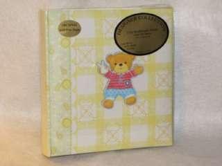 NEW Baby Boy TEDDY BEAR Photo Album ~Holds 200 Photos