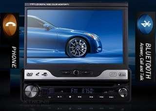 RADIO 1DIN DVD 7 CAR STEREO PLAYER BLUETOOTH USB TV IPOD SD 2 YEARS