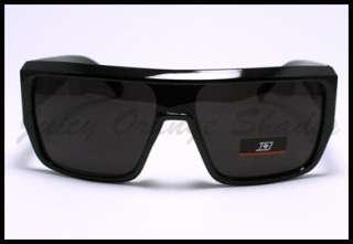 SQUARED MOB Style Retro FLAT TOP OVERSIZED Sunglasses BLACK