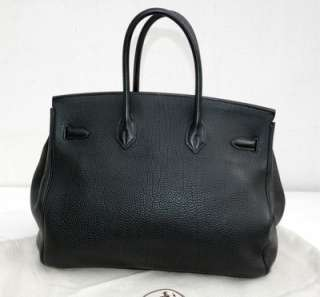 HERMES Birkin Bag 35 cm black leather gold Hardware