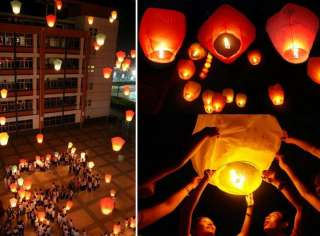 Fire Lanterns wish for Party Wedding Birthday Hot 9 Color @