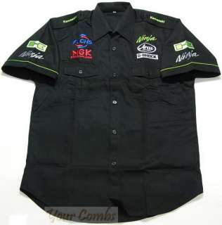 KAWASAKI NINJA MOTORCYCLE SPORT RACING TEAM SHIRT M 5XL