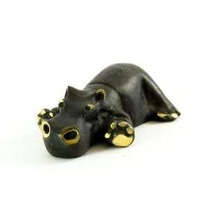 Walter Bosse Brass Resting Hippo Figurine