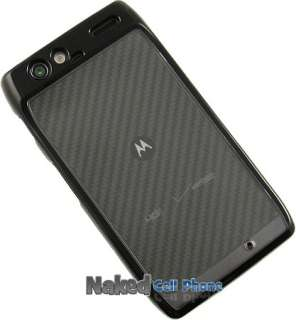 BLACK CLEAR TPU GUMMY SKIN HARD/SOFT CASE FOR VERIZON MOTOROLA DROID