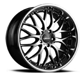 VERTINI DRIFT 19X8.5 WHEELS 5X114.3 RIMS ET+35MM BLACK MACHINE