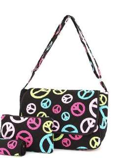 PERSONALIZED Laptop Netbook Messenger Case PEACE SIGN