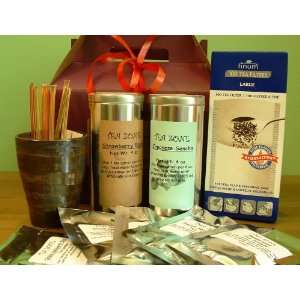 Tea, 1 Japanese Tea Mug, 1 Box Paper Tea Filters, 5 Assorted Tea