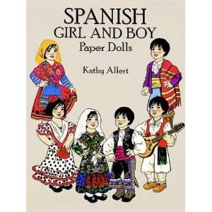 Spanish Girl and Boy Paper Dolls in Full Color