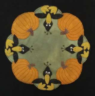 Those Blasted Crows Wool Penny Rug Candle Mat PATTERN