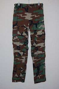 Camouflage BDU Pants Small Long RIPSTOP 100% Cotton #SL