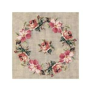 Roses Pre Embroidered Tapestry Seat Cover/Pillow