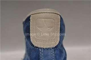 New John Varvatos Converse All Star Blue Suede Hi Top Sneakers   Mens