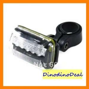 hot 10pcs/lots5 5 led 4 mode safety bicycle bike tail light with mount