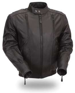 HOUSE OF HARLEY MENS LEATHER BOMBER JACKET FIM238MNZ