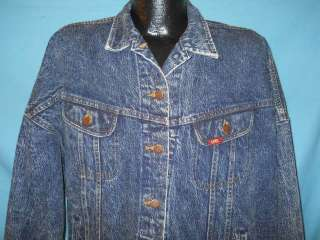 vintage LEE RIDERS ACID WASH DENIM JEAN JACKET MED M