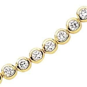 Plated Clear Cubic Zirconia Riviere Bracelet   Length 18 cm Jewelry