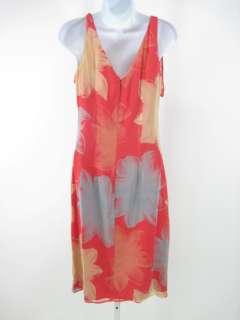 NEW BETH BOWLEY Multi Colored Silk Sleeveless Dress S