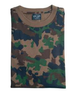Swiss Army Camouflage Military T Shirts Army Camo Tops