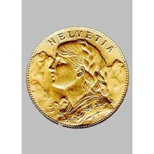 1935 20 Franc Switzerland gold coin Helvetia: Everything