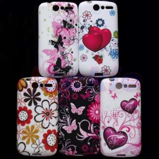 NEW Butterfly Soft TPU Gel Case For HTC Desire Bravo G7