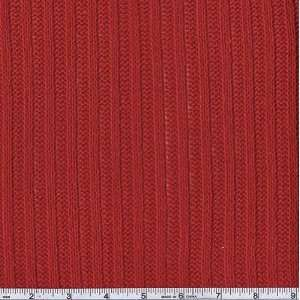 48 Wide Ribbed Sweater Knit Red Fabric By The Yard Arts