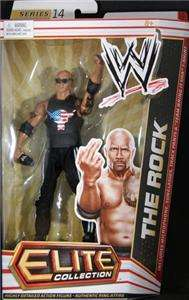 THE ROCK WWE MATTEL ELITE SERIES 14 ACTION FIGURE TOY