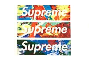 Supreme damien Hirst box logo stickers tee sweater T sb