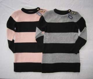 Gap Girls Brick Lane Rugby Stripe Sweater Dress 4 5 6 7 8 10 12 NWT