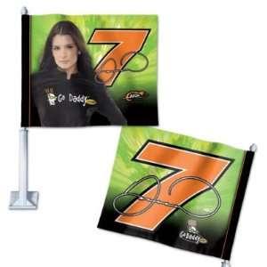 NASCAR DANICA PATRICK OFFICIAL LOGO CAR WINDOW FLAG