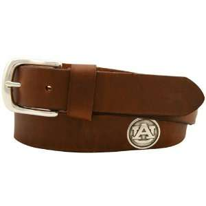 Auburn Tigers Brown Leather Coaches Belt Sports