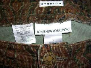 JONES NEW YORK Sport Stretch Corduroy Womens Pant 6