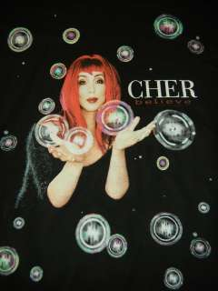 Cher   NEW Believe Bubbles LONG SLEEVE Shirt   Large $22.00 SALE FREE