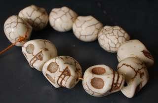 White SKULL Bracelet Prayer Beads chain Tibet Buddhist