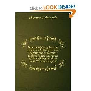 at St. Thomass hospital Florence Nightingale  Books