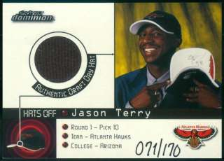 99 00 SKYBOX DOMINION AUTHENTIC HAT JASON TERRY 071/170 ROOKIE RC BV80