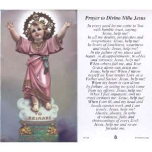 Prayer to Divino Nino Jesus   100 pack Paper Holy Cards