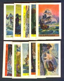1936 JOLLY ROGER PIRATES LOT OF 10 DIFFERENT NM MT