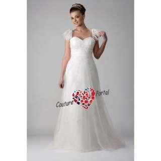 Princess A line Sweetheart Brush Train Wedding Dress