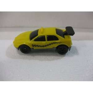 Yellow Street Racer Checkered Taxi Cab Matchbox Car Toys