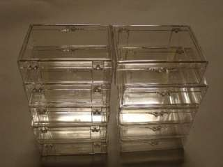 Clear plastic display boxes. Case.Showcase. Lot of 10.