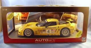 AUTOart MOTORSPORT CHEVY CORVETTE C6R LAGUNA SECA 2005 #4 WINNER 1:18