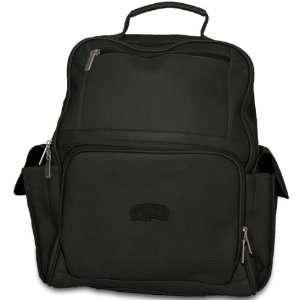 Pangea Black Leather Large Computer Backpack   San Antonio