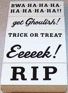 Halloween Rubber Stamps Sayings and Phrases U Pick