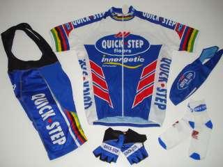 New QUICK STEP Team Cycling Set Jersey Bib Shorts XXL
